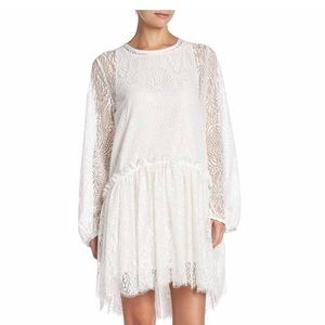Johnny Was Lace Long Sleeve Hi-Lo Dress